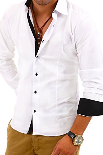 MyTrends - Chemise tendance coupe slim - BH-314 Blanc