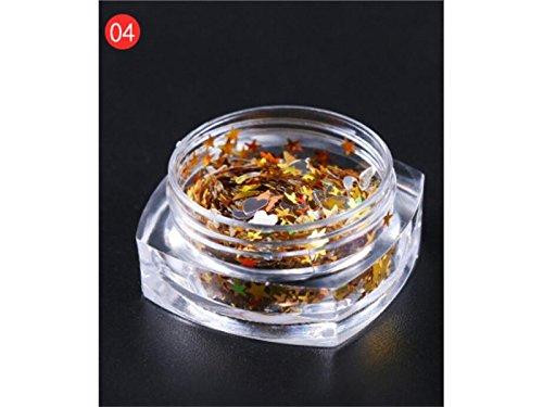 Paillettes multi-formes confettis paillettes colorées pour bricolage paillettes étoiles paillettes artisanat Nail Art et décoration (Golden) - BY DDOQ