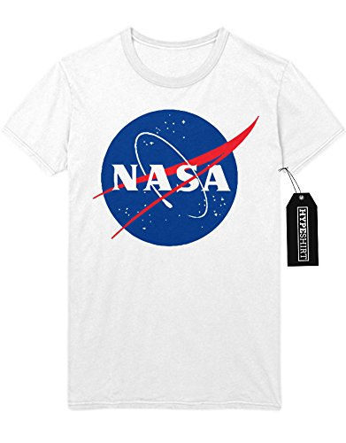 T-Shirt NASA Interstellar Galaxy Astronaut Space Hipster Dreieck Triangle Noir Nebula Sterne H970011 Weiß S (Nasa Kostüme)