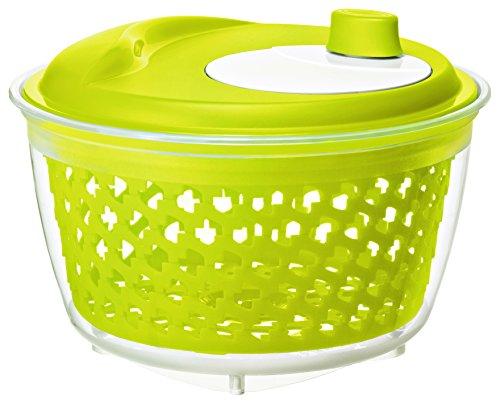 Rotho Fresh Salatschleuder, Kunststoff (BPA-frei), grün / transparent, (25 x 25 x 16,5 cm)