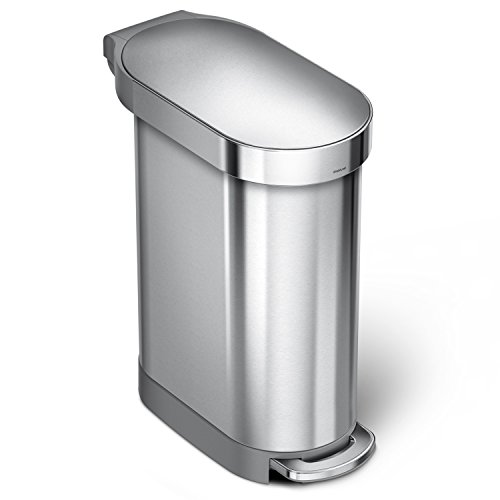 Simplehuman 45 litres Poubelle étroite à pédale