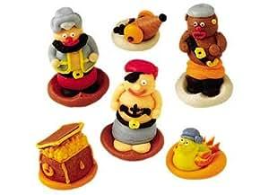 Set di decorazioni per torte pirata zucchero a velo for Decorazioni zucchero a velo