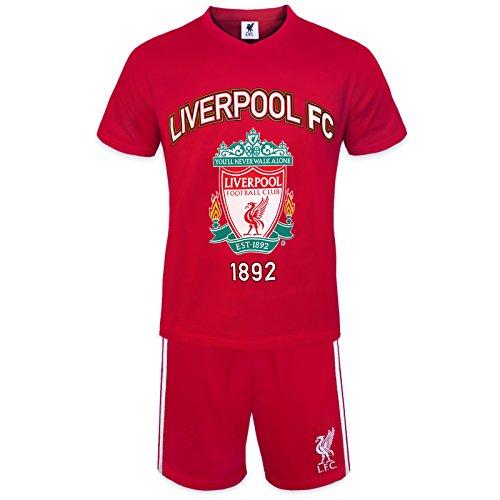Liverpool FC - Herren Schlafanzug-Shorty - Offizielles Merchandise - Geschenk für Fußballfans - XL