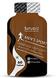 Naturyz Men's Sport Advanced Daily Multivitamin for Men with 55 Vital Nutrients & 13 Performance Blend