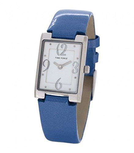 Time Force TF4066L03 - Reloj Analógico para Mujer, Color Blanco/Azul