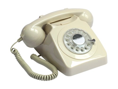PROTELX ROTARY IVY - TELEFONO FIJO ANALOGICO  CREMA (IMPORTADO)