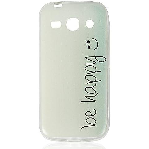 Samsung Galaxy Core Plus (G350) Carcasa - YOKIRIN SM-N7502 Funda Cover Anti-deslizante TPU Suave Silicona Case Transparente Borde (