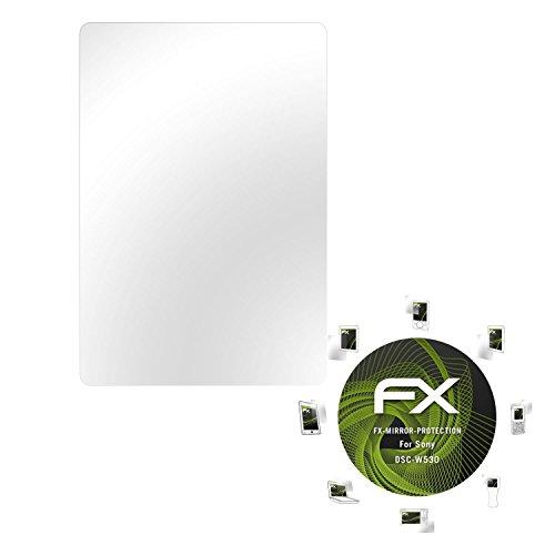atFoliX Displayfolie für Sony DSC-W530 Spiegelfolie, Spiegeleffekt FX Schutzfolie