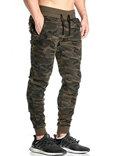 395fb8e532ee4 LionRoar Men's Cotton Army Camouflage Gym Track Pants