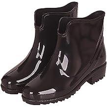 d355ba454 Botas Agua Cortas Goma Impermeables Botas de Lluvia para Mujer Botines  Chelsea de Goma Outdoor Antideslizante