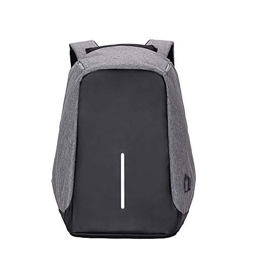 YTTY Laptop Backpack15 Zoll Sicherheit Sackleinen Garn Atmungsaktiv Tragen Diebstahlsicher Atmungsaktiv Umhängetasche, Grau