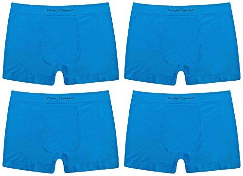 Herren Boxershorts 2er / 4er / 6er / 10er Pack, Unterhose, Boxer Schwarz / Blau / Grau - bequeme seamless Pants (black/grey/blue) 4 | Blau