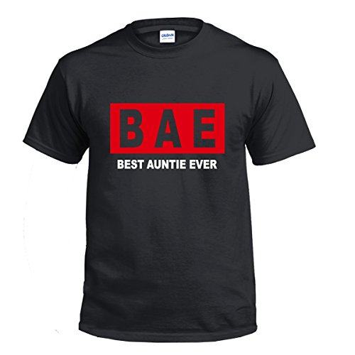Juicy T's Bae Best Auntie Ever t Shirt Tee Top Loose Fit Aunty Family Gift Birthday Tumblr