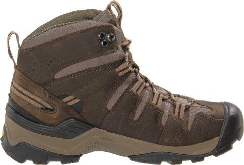 KEEN Womens Gypsum Mid Black Olive/Chocolate Brown, Increased stability to go the miles Marrone