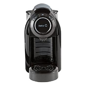 Delta Q Qool evolución máquina de café (brillante negro)