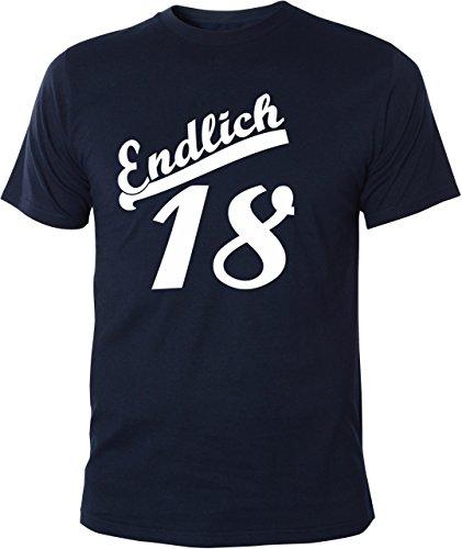 Mister Merchandise Cooles Herren T-Shirt Endlich 18 Geburtstag Volljährig Navy