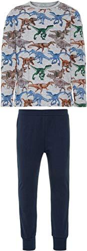 NAME IT Jungen Zweiteiliger Schlafanzug NKMNIGHTSET NOOS, Mehrfarbig (Grey Melange), 164