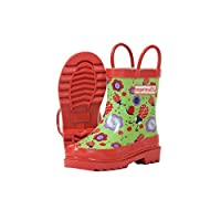 Target Dry Childrens Girls Floral Ladybird Pattern Wellington Boots
