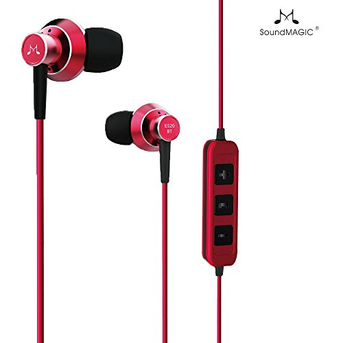 SoundMagic ES20BT Bluetooth Stereo Earphones with Mic (Red)