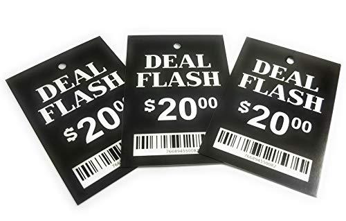 Vorgedruckte Etiketten zum Aufhängen von Kleidung, 5,1 x 7,6 cm, Einzelhandelskleidung, Boutique, Flohmarkt, Garage, Verkaufspreis, Etikett zur Verwendung mit Etikettierpistole 100 Deal Flash $20 Carlisle Collection