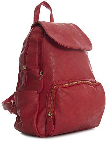 Big Handbag Shop , Zainetto per bambini Red - Gold Zip