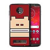 eSwish Hülle/Case für Motorola Moto Z3 Play 2018 / Donkey Kong Inspiriert Muster/Retro-Spiele Figuren Kollektion