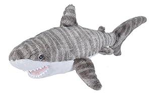 Wild Republic 22464 Tiger Shark Plush Soft Toy, Grey, 20 cm