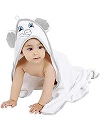 50cc775c6784 LATTCURE Accappatoio Neonato, Telo da Bagno Asciugamano per Bambini con  Cappuccio Animale in Fibra di