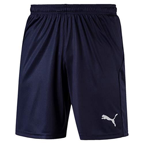 PUMA Herren Liga Shorts Core with Brief Hose,blau( Peacoat White) , L