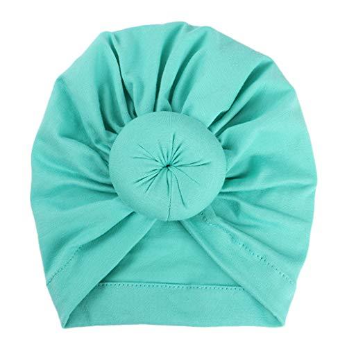 JOYKK Baby Turban-Mütze für Neugeborene, elastisch, Baumwolle, geknotet 11# Light Green