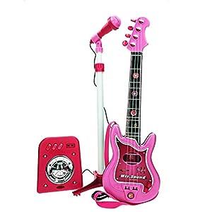 CLAUDIO REIG-Conjunto Flash micrófono + bafle + Guitar, Color Rosa (8441)