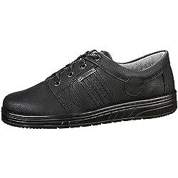 Abeba trabajo zapato de trabajo 2650 negro, piel, bacteriostático, antiestático, CE EN ISO 20347:2012 O1 SRA Negro negro Talla:40