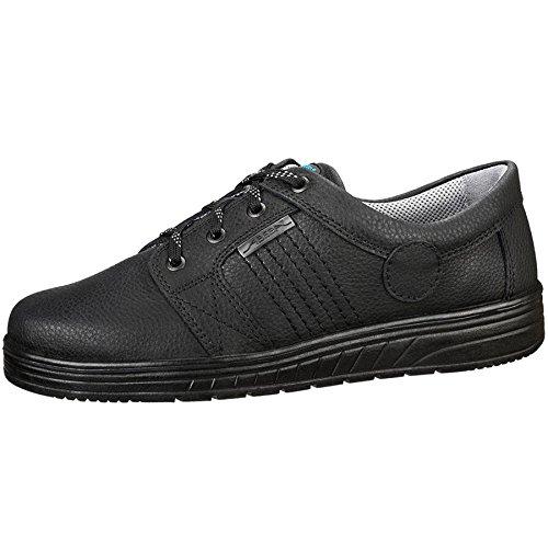 Abeba professionnelle travail Chaussures 2650Noir, Cuir, bakterienhemmend, antistatique, ce en ISO 20347: 2012O1SRA Noir