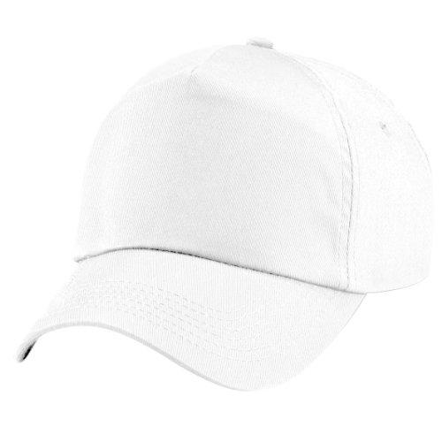 Beechfield - cappellino tinta unita 100% cotone - bambino (taglia unica) (bianco)