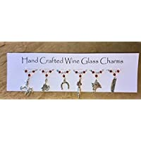 Wine Glass Charms - Horse Themed Charms - Equestrian Gifts - Stocking Fillers - Christmas Gifts