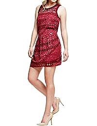 Abbigliamento Rosso Amazon Guess it Donna Vestito qx0ZF