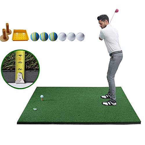 ZTJQD Golfmatte, High-End-Golfschwung-Übungsmatte, Heimgarten Tragbare Trainingsmatte Für Golf 150 × 150 × 3CM, Gewinnspiel: 2 Tee + 6 Indoor-Bälle + 1 Ball-Box