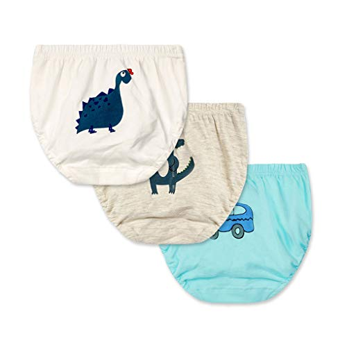 Provide The Best 3pcs Kind-Jungen-Mädchen-Karikatur-Tiere Print-Schlüpfer-Baumwollunterwäsche Unterhose Briefs Set
