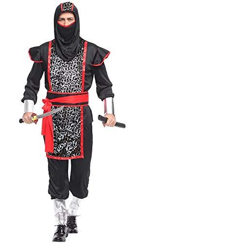 thematys Ninja Anzug Kostüm-Set für Herren - perfekt für Fasching, Karneval & Halloween - Einheitsgröße ()