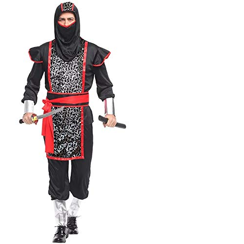 thematys Ninja Anzug Kostüm-Set für Herren - perfekt für Fasching, Karneval & Halloween - M (175-185cm) (Ninja Kostüm Realistische)