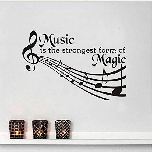 Kunst Wandaufkleber Musik Ist Die Stärkste Form Von Magie PVC Vinyl Aufkleber Wohnkultur Für Schlafzimmer Wohnzimmer Kinderzimmer DIY Wandbild 59 * 39 cm (Magie Verkauf Von Kunst)