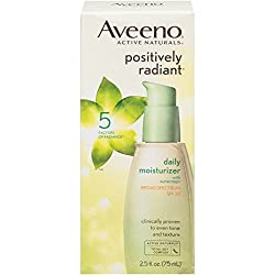 Aveeno Positively Radiant Daily Moisturizer With Broad Spectrum SPF 30 2. 5 Fl. Oz