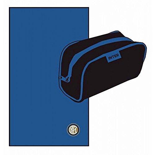 Inter 89411502120 telo sport, microfibra, azzurro, 15x25x3 cm