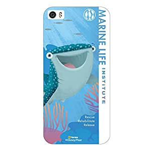 Hamee Disney Pixar Finding Dory Official Licensed Cover Hard Back Case for iPhone 5 / 5s / 5SE / SE ( Destiny Marine Life2/White )