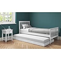 Oxford Single Guest Bed in Pure White - Trundle Bed Included
