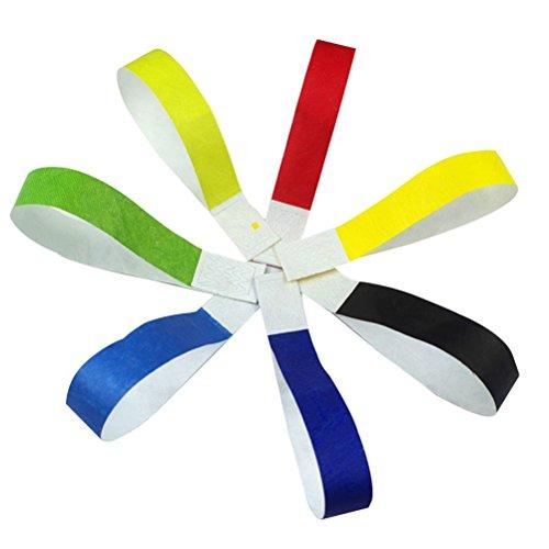TOYANDONA 200 stücke Tyvek armbänder Wasserdichte Papier armbänder (zufällige Farbe) (Ereignisse Papier-armbänder Für)