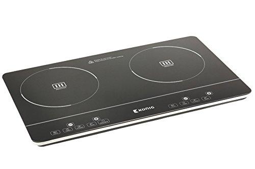 Koenig Elektronik Ultra Slim Touch 2 Zonen Mini Induktionskochfeld Induktion Dual Koch Platte Feld 3500W