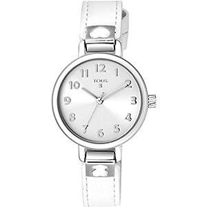 Reloj tous Dream de acero con correa de piel blanca Ref:900350195