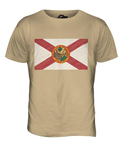 CandyMix Bundesstaat Florida Kritzelte Flagge Herren T Shirt Sand
