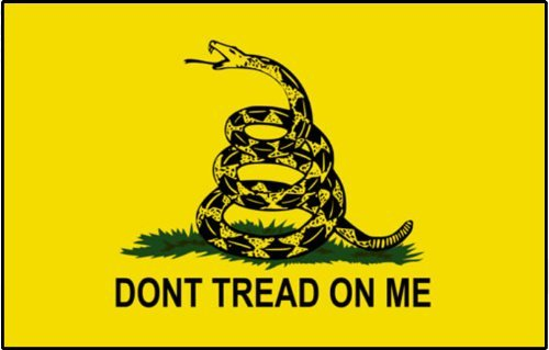 INDIGOS UG Aufkleber Autoaufkleber JDM Die Hart - Gadsden Flag Dont Tread on Me Sticker 139mmX101mm 139mmX101mm
